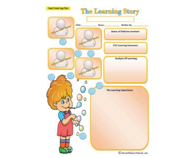 Learning Story - Bubbles
