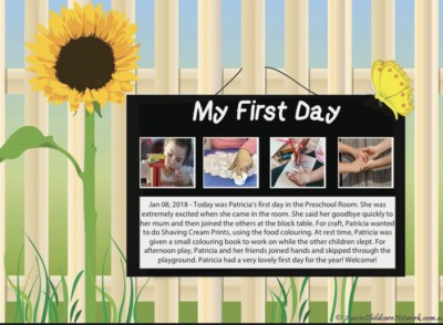 My First Day Sunflower Template - MS Word Now Available