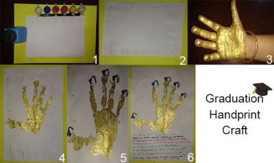 Graduation Handprint Craft