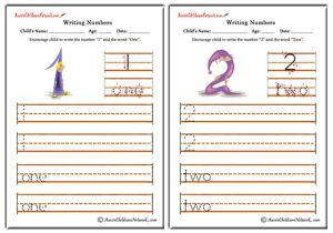 Writing Numbers - Cartoon Theme