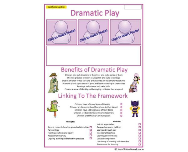 Interest Area - Dramatic Play - Aussie Childcare Network