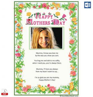 Mothers Day Poem Template