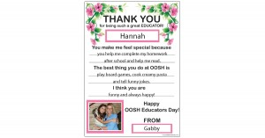 Thankyou OOSH Educator Template
