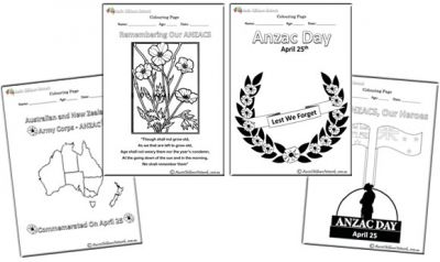 ANZAC Day Colouring Pages to remember our heroes