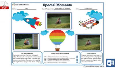 Special Moments Template Now Available in Blue