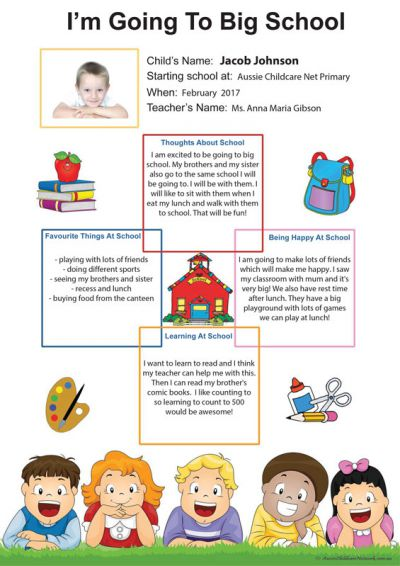 Big School Template For Preschoolers