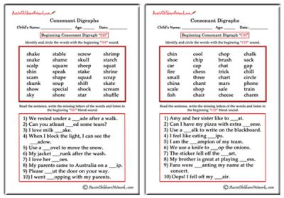 Worksheets Phonics Worksheets For Adults phonics worksheets aussie childcare network consonant digraphs