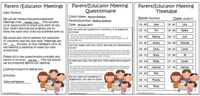 Parent and Educator Meeting Templates