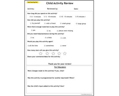 Child Activity Review