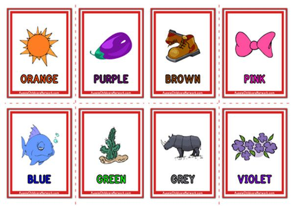Colour Objects Flashcards Objects Aussie Childcare Network