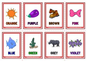 Colour Objects Flashcards - Objects
