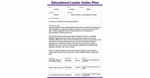 Educational Leader Action Plan Template