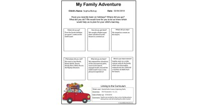 My Family Adventure Template