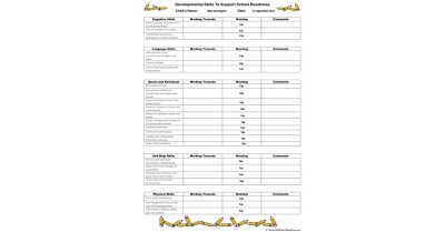 School Readiness Checklist Template