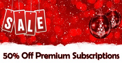 2 Days Only - 50% Off Premium Subscriptions Christmas FLASH SALE!
