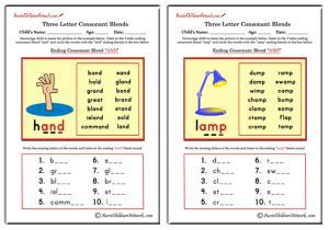 Three Letter Blends - Ending Consonant Blends