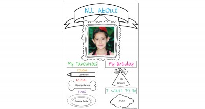 All About Me Portfolio Template