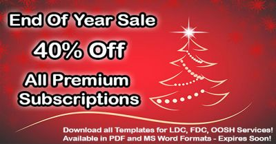 40% Off All LDC, FDC and OOSH Templates