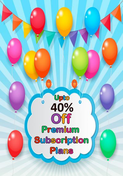 Upto 40% Off Premium Subscription Plans