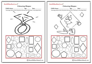 Colouring Shapes - Diamonds