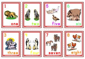 Counting Numbers Flashcards - Animals