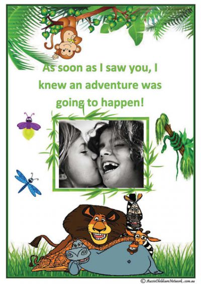 Jungle Theme Friendship Template - Child Portfolio
