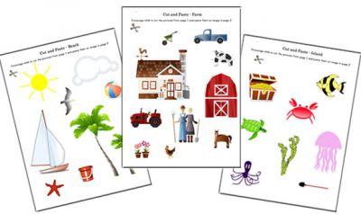 Cut and Paste Worksheets - Cutting Skills