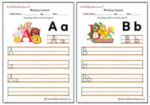 Writing Alphabet - Animals Theme