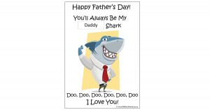 Daddy Shark Template For Fathers Day