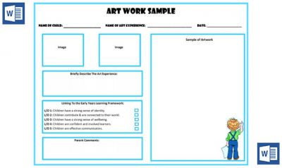 art work sample portfolio template now available in ms word