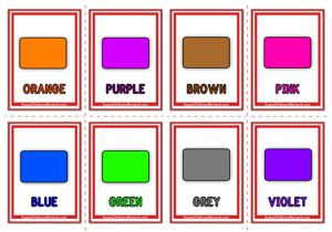 Colours Flashcards - Classic