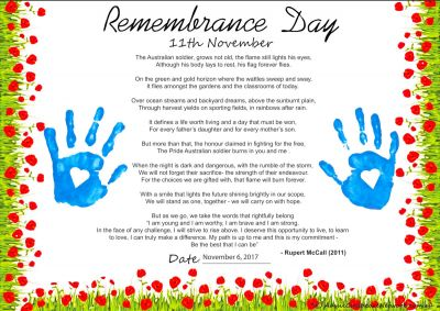Remembrance Day Poem Portfolio Template