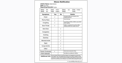 Illness Notification Template