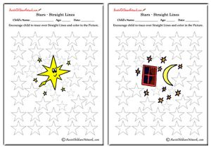 Tracing Stars Worksheets