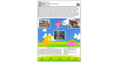 Dinosaur Learning Story Template