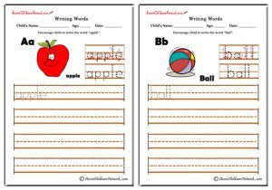 Writing Alphabet Words - Classic Theme