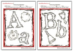 Colouring Alphabet - Arts Theme