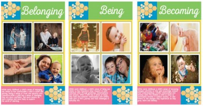 Belonging, Being Becoming Posters Editable Template