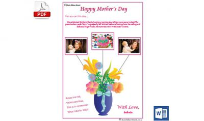 Mothers Day Child Portfolio Template Released