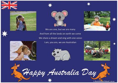 Australia Day Template and 20% Off