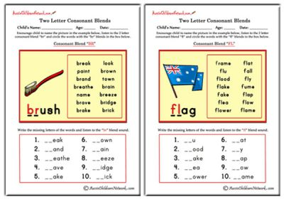 math worksheet : phonics worksheets  aussie childcare network : Kindergarten Blends Worksheets