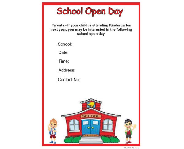 School Open Day Poster