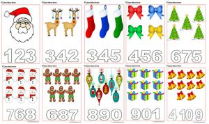 Christmas Counting Worksheets
