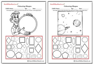 Colouring Shapes - Circles