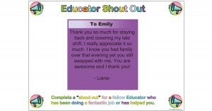 Educator Shout Out Template
