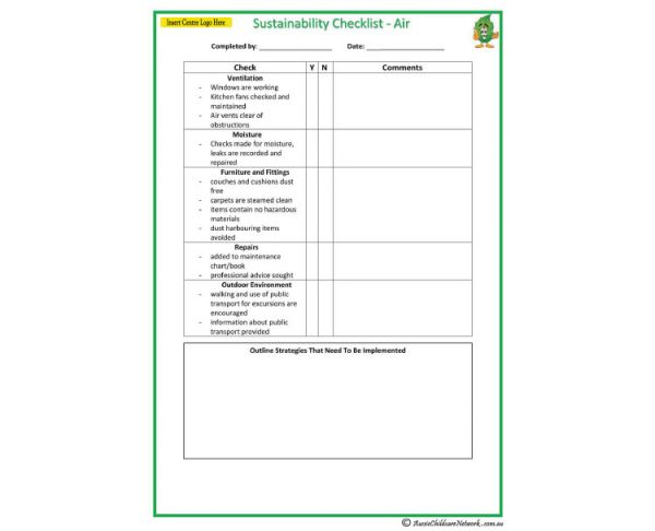 Sustainability Checklist - Air