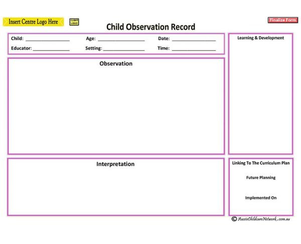 child observation running record 5 years old Early childhood cognitive development essay sample 1select a child in the 4-year/5-year-old room guidelines for writing running record observation notes.