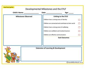 Developmental Milestones EYLF