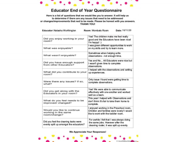 Educator Questionnaire