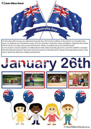 Australia Day Template for Centre Celebrations